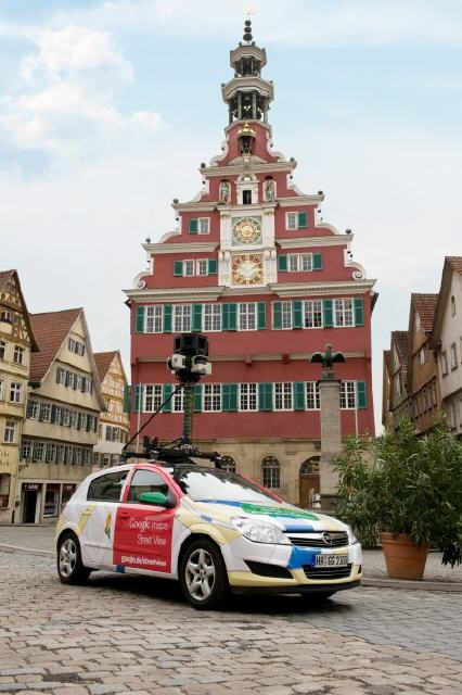 Start von Google Street View